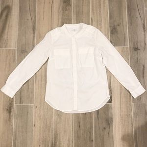 Women's Gap White Utility Blouse size small